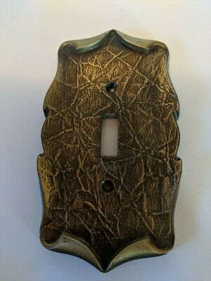 Vintage Amerock Carriage House Brass Light Switch Plate Cover