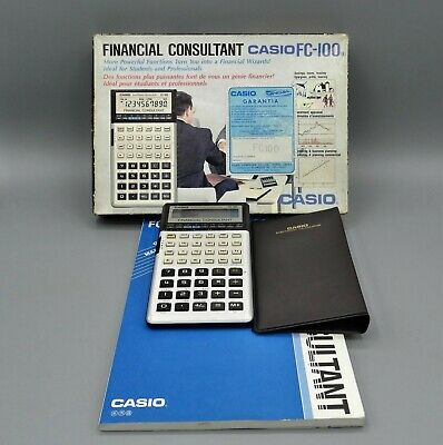 Calculadora Casio Financial Consultant Fc-100 Con Caja Original, Manual, Estuche