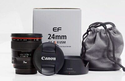 Canon EF 24-105mm f/4L IS USM Lens with Hood, Case, and UV Protective Cover