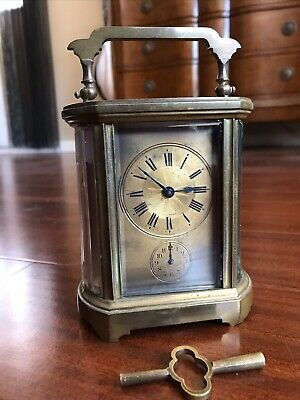 French Antique Brass Carriage Clock,