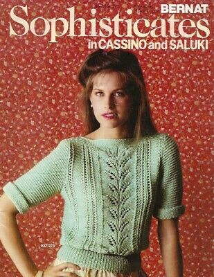 Sophisticates Women's Sweaters - Vintage Knitting Pattern Booklet