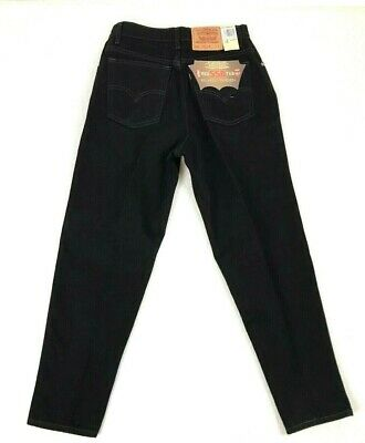 Vintage Deadstock Levis 550 Red Tab Jeans Size 30 x 29 Tapered Leg Black Hi Rise