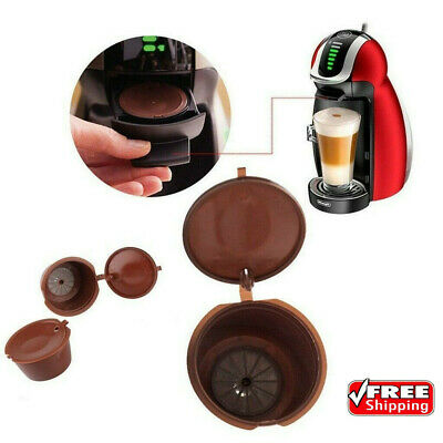 2/4x Refillable Coffee Capsule Cup For Dolce Gusto Nescafe Reusable Filter Pod