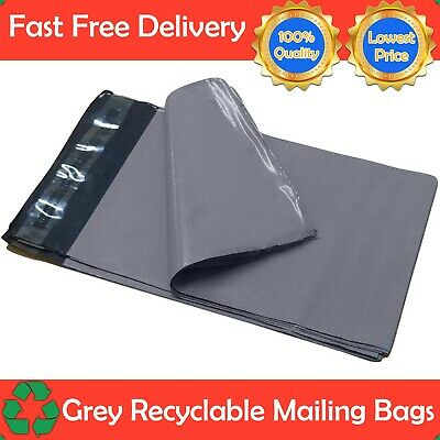 "14 x 19"" Grey Mailing Bags Strong Parcel Postage Plastic Post Poly Self Seal UK"