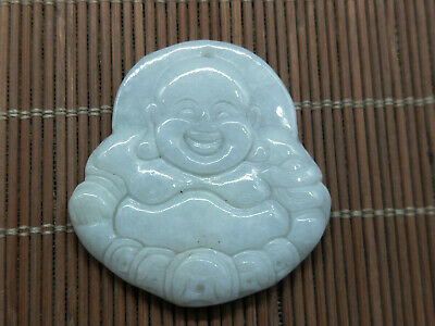 100% Delicate Chinese natural Hand-carved Myanmar Jadeite Money Buddha pendant