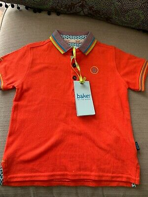 NWT BAKER BY TED BAKER BOYS AGE 18-24 Months-orange Polo Top