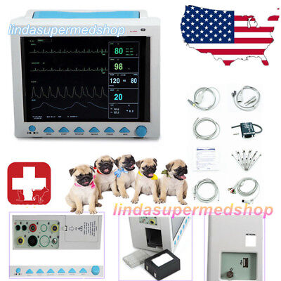 Veterinary ICU Vital Signs Patient Monitor,6 parameters Pet/Animal USE Newest US