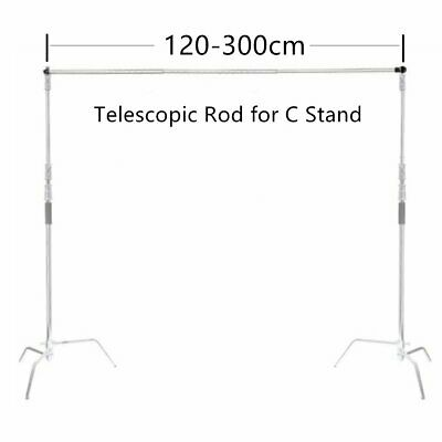 Pro Extension Poles Telescopic Rod for C-Stand Background Support Photography AU