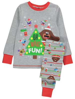 Hey Duggee Boys Grey Christmas Xmas Pyjamas Pjs Set - 1 to 6 years - NEW