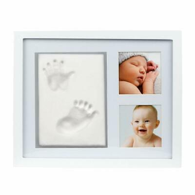 UK Photo Frame Air Drying Clay Baby Handprint Footprint Imprint Kit Casting #X