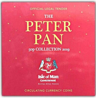 Peter Pan Full Set of Six Isle of Man 50 Pence Coin Presentation Pack