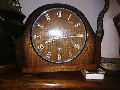 Smiths 8 Day Westminster Chiming Mantle Clock - for restoration / parts