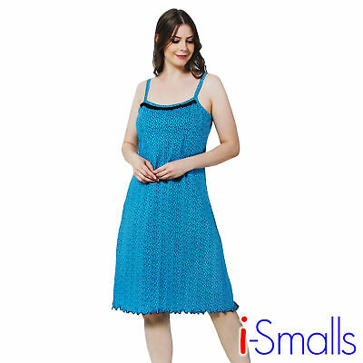 i-Smalls Ladies Cotton Strappy Nightdress Amazing Cute Casual Under Dress