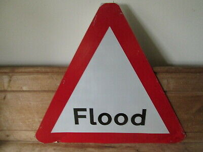 Flood road works sign.  traffic sign.street sign.