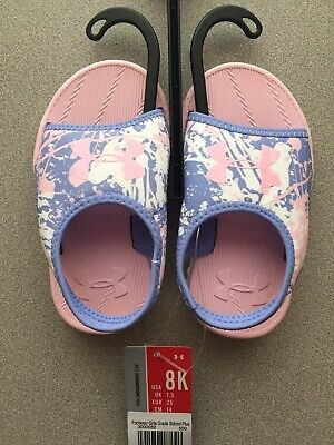 Toddler Little Girl Under Armour Fat Tire Sandal Water Shoe Pink/ Purple Size 8