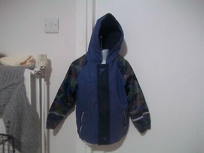 boys fleece lined rain jacket from lupilu aged 4-5yrs in good condition