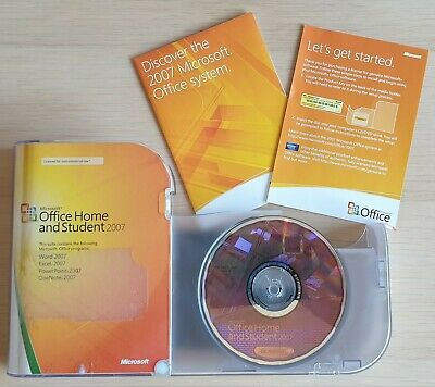 Microsoft Office 2007 Home and Student Edition, Word, Excel, PowerPoint, OneNote