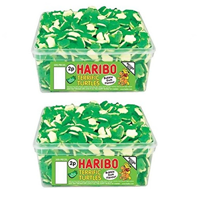 2 x Full Tubs Haribo Sweets Party Favours Treats Candy Box Wholesale Terrific