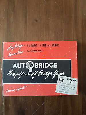 Auto Bridge-Play Yourself Bridge Game 1959 Vintage Board Game