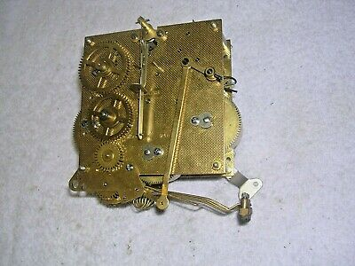 Clock  Parts , Brass  Movement , 4 Hammers  Spares  Or  Repair