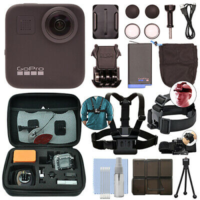 GoPro MAX 360 Action Camera Waterproof 5.6K Camcorder + Ultimate Action Bundle