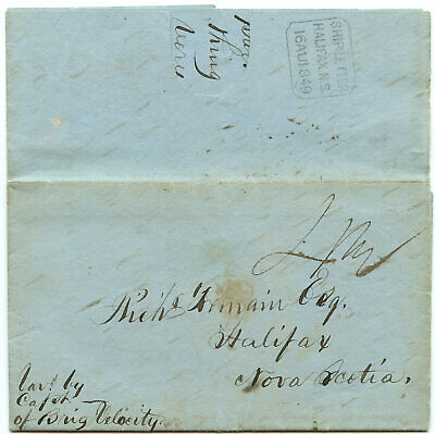1849 St. Kingston JAMAICA to Halifax with OCTAGONAL ship letter marking