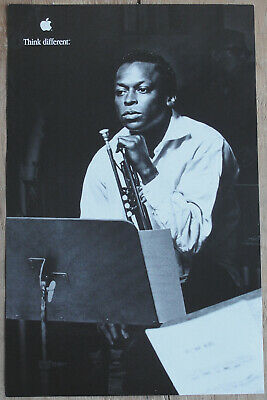 Original Miles Davis Think Different Apple Educational Series Poster AWESOME!