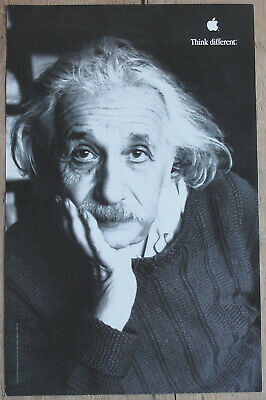 Original Albert Einstein Think Different Apple Educational Series Poster AWESOME
