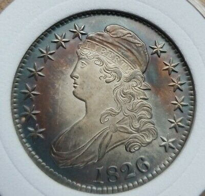 1826 Capped Bust Half Dollar 50c Silver Looks Uncirculated check pictures