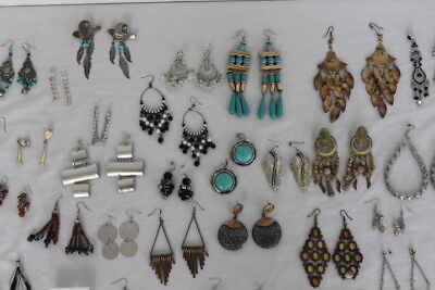 Jewelry Lot 48 Pairs Chandelier Dangle Drop Pierced Earrings Vintage to Modern