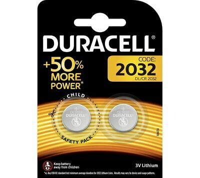 New Duracell 2 CR2032 3V Lithium Button Battery Coin Cell DL/CR 2032 Expiry 2029
