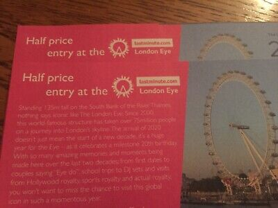 London Eye Voucher coupon HALF PRICE entry tickets 50% Off 5 People Adult/child