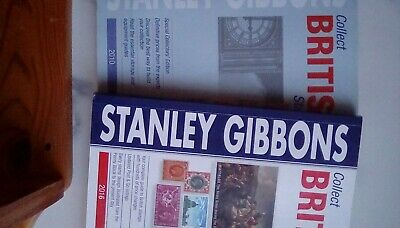 2 x stanley gibbons collect british stamps 2010 & 2016