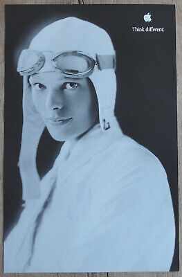 Original Amelia Earhart Think Different Apple Educational Series Poster AWESOME!