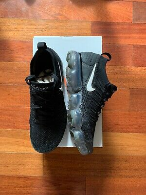 NIKE MENS AIR VAPORMAX FLYKNIT 2 - 942842 001 Black / White  sz 9