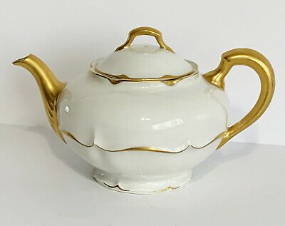 Haviland & Co. Limoges France MARLBOROUGH Teapot Heavy Gold Trim