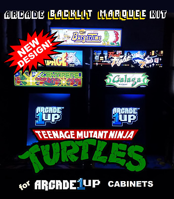 Arcade1up Teenage Mutant Ninja Turtles TMNT Marquee Kit for A1up Cabinets -Green