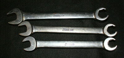 Snap On 3pc SAE Open End/Flare Nut Wrenches! Preowned!!!