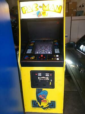 Pacman arcade game converted to Ms Pacman Original 1981 authentic