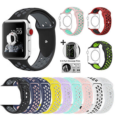 Sport Strap Rubber Bracelet for iWatch Band Apple Watch Series 5 4 3 2 1 38/44mm