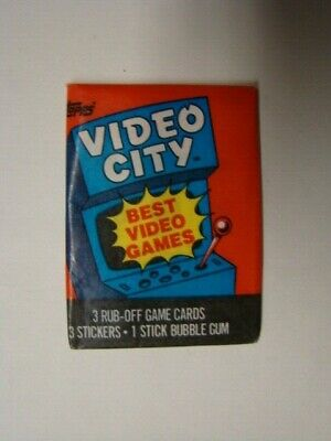 NS65 Fresh from Box! x1 1983 Topps Video City Wax Pack