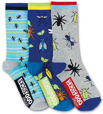 Unted Oddsocks -3 Oddsocks For Boys - Spder UK 12-6