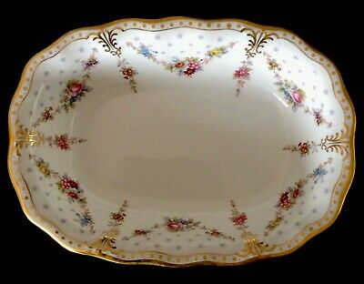 Royal Crown Derby Royal Antoinette Open Vegetable Dish 9""
