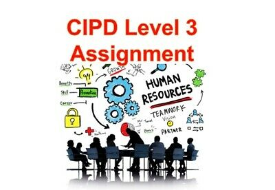 Level 3 CIPD individual Assignments