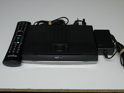 BT Humax DTR-T2100 500GB YouView FreeView DVR Box Dual Tuner + Remote & Adapter
