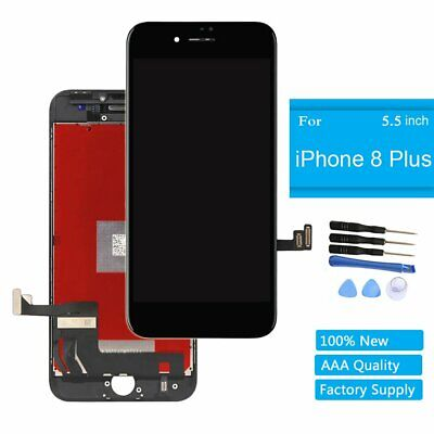 Black Display LCD Screen Touch Digitizer Frame Replacement for Iphone 8 plus