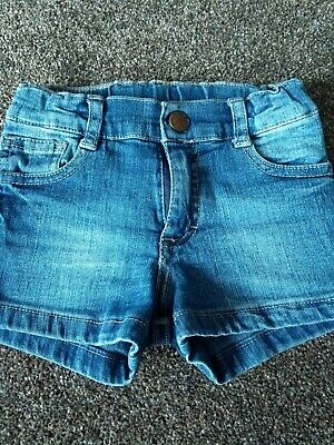 Mimo & Co. Girls Denim Shorts Size Age 3 Years Blue