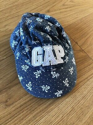 BabyGap Girls Denim Floral Baseball Cap 6-12 Months