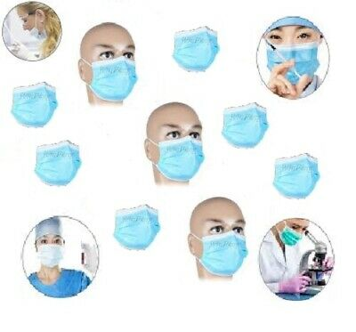 20 x DISPOSABLE SURGICAL TIE ON FACE MASK - Flu Virus Medical Grade
