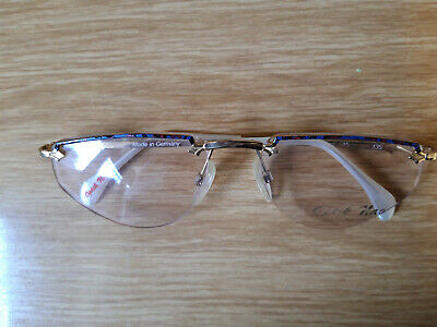 Brille Brillengestell, Damen,Collection 2000,goldfarbend, Retro ca. 30 Jahre alt